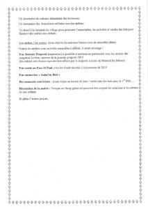 Compte rendu de la réunion PLESSIS LOISIRS